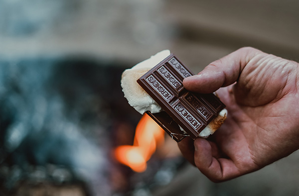 Hershey's Chocolate Smores with brown brand color